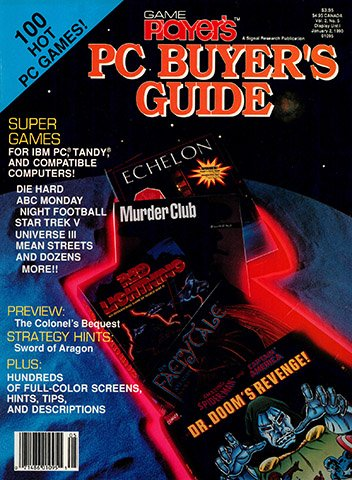 New Release - Game Player's PC Buyer's Guide Volume 2 Number 5 (November/December 1989)