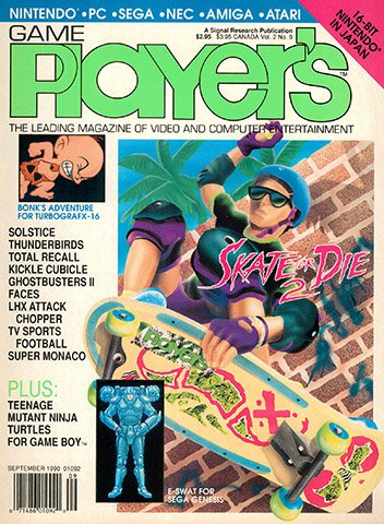 New Release - Game Player's Issue 15 Volume 2 Number 9 (September 1990)