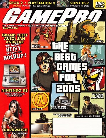 New Release - GamePro Issue 196 (January 2005)