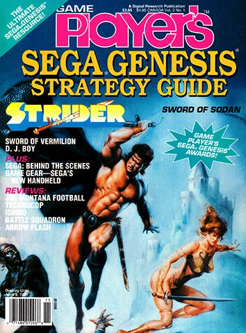 New Release - Game Player's Sega Genesis Strategy Guide Volume 2 Number 1 (February-March 1991)