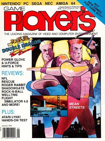 New Release - Game Player's Issue 07 Volume 2 Number 1 (January 1990)