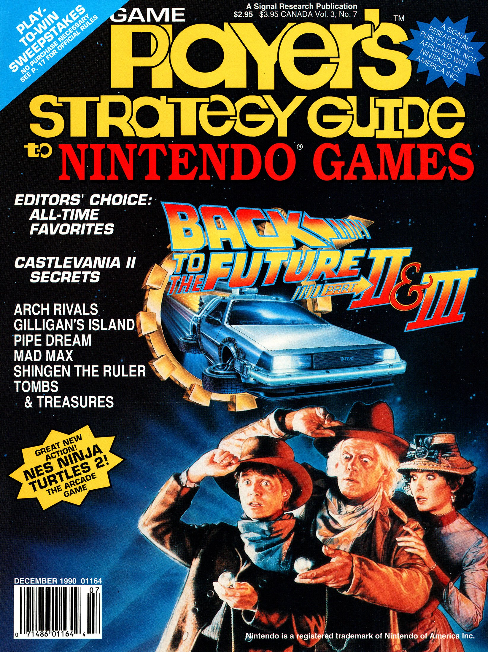 New Release - Game Player's Strategy Guide to Nintendo Games Volume 3 Number 7 (December 1990)