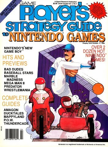 New Release - Game Player's Strategy Guide to Nintendo Games Volume 2 Number 4 (August-September 1989)