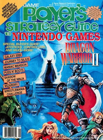 New Release - Game Player's Strategy Guide to Nintendo Games Volume 4 Number 1 (January 1991)