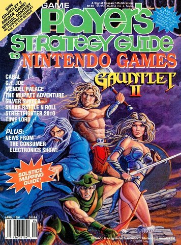 New Release - Game Player's Strategy Guide to Nintendo Games Volume 4 Number 4 (April 1991)