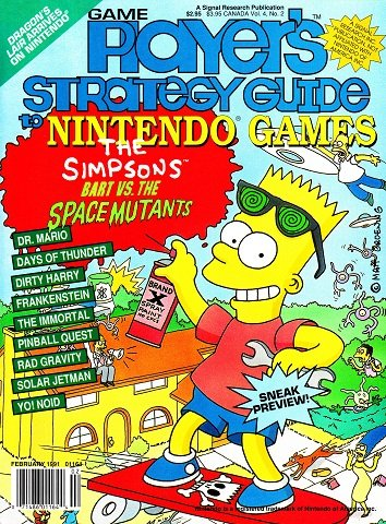 New Release - Game Player's Strategy Guide to Nintendo Games Volume 4 Number 2 (February 1991)