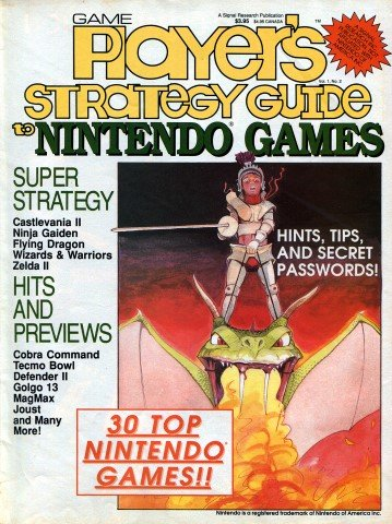 Updated Release: Game Player's Strategy Guide to Nintendo Games Vol.1 No.2 (1988)