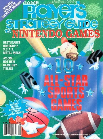 New Release - Game Player's Strategy Guide to Nintendo Games Volume 4 Number 6 (June 1991)