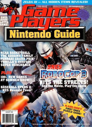 New Release - Game Players Nintendo Guide Volume 5 Number 8 (August 1992)