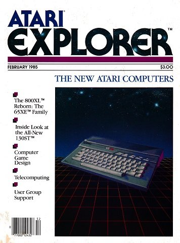 New Release - Atari Explorer Issue 01 (February 1985)