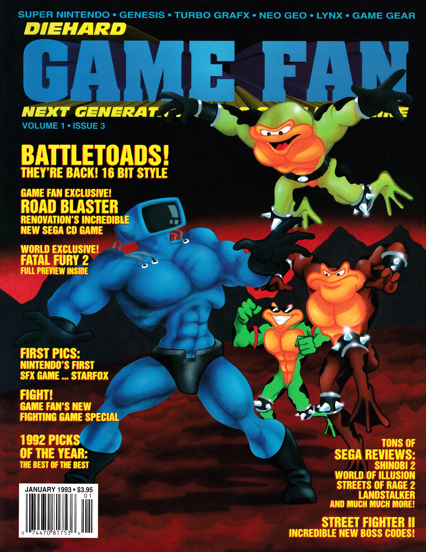 New Release - Die Hard Game Fan Volume 1 Issue 03 (January 1993)